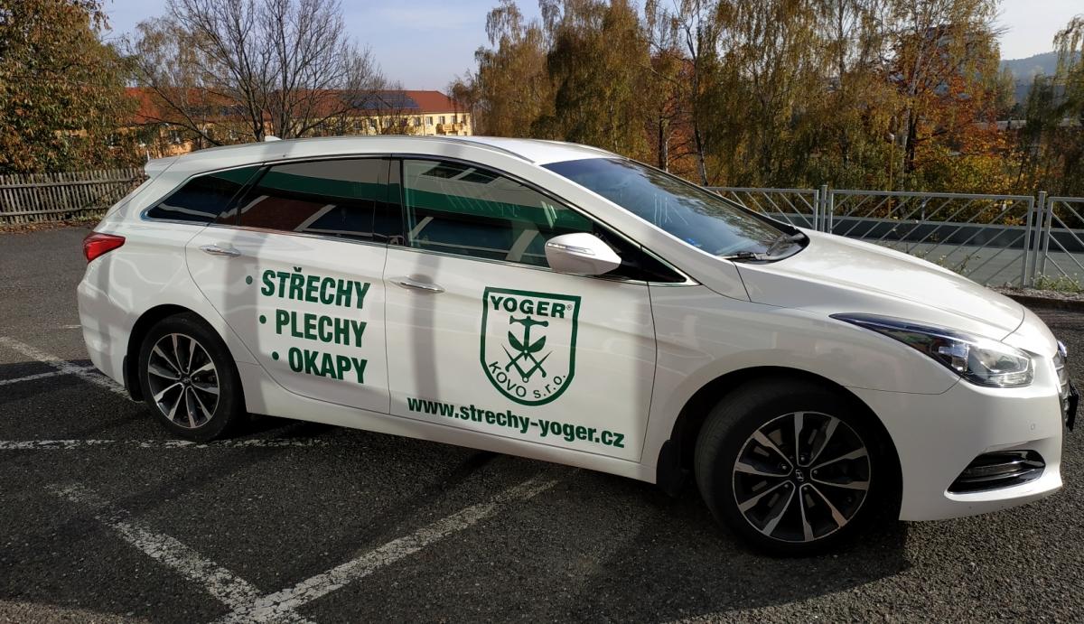 Yoger Kovo s.r.o. - Polepy firemních vozů Škoda a Hyundai
