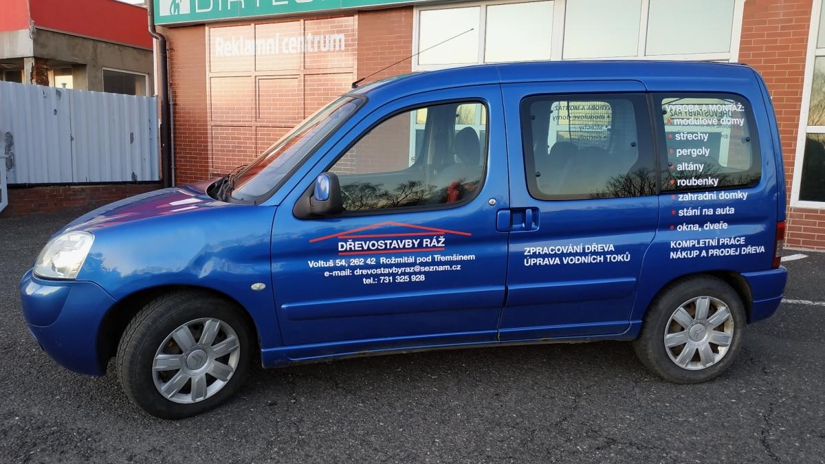 klient - Polep firemního vozu