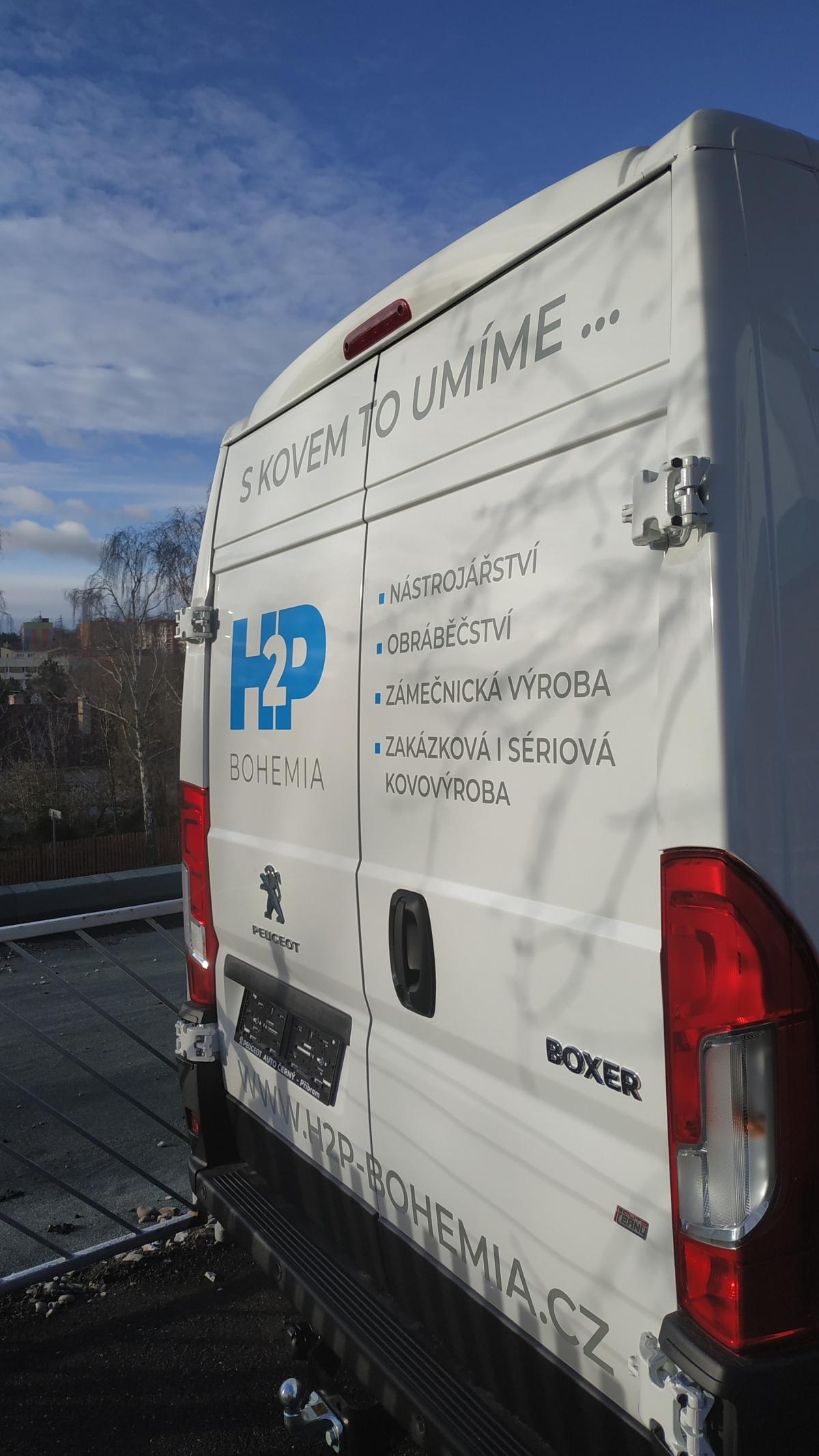 H2P - Polep firemního vozu