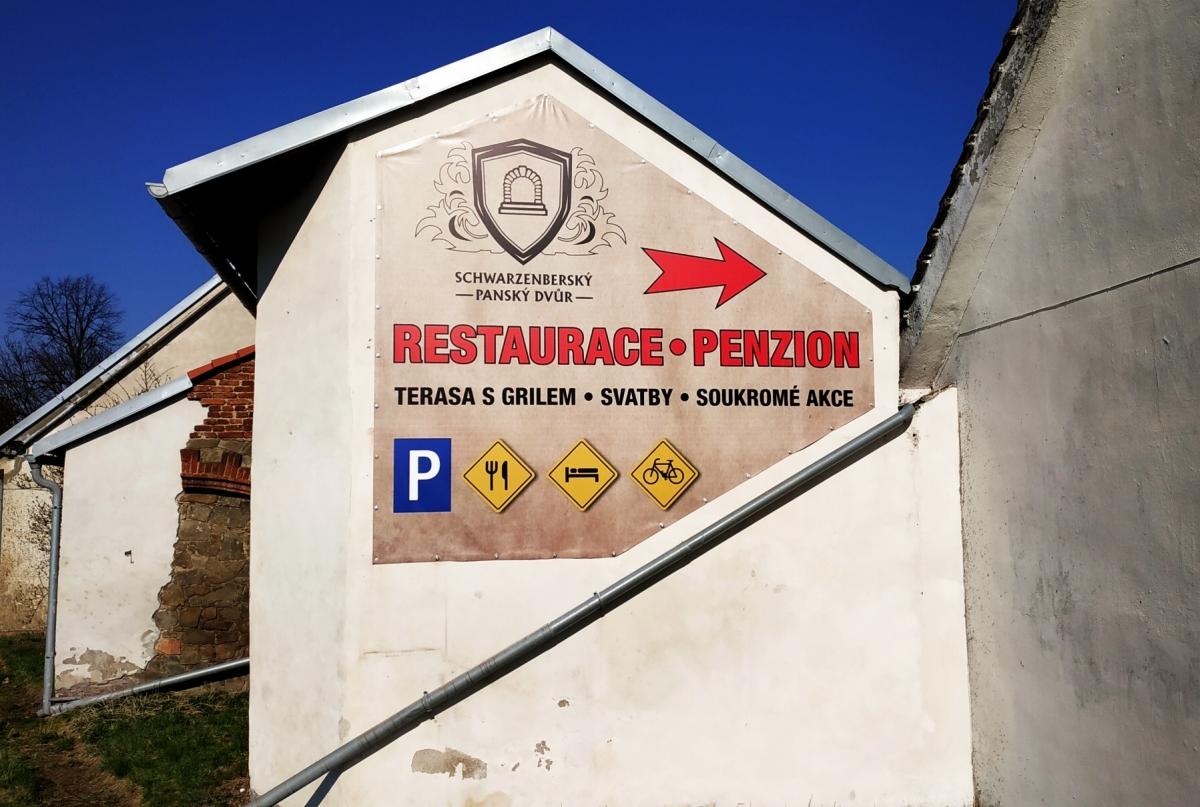 Schwarzenberský Panský Dvůr - Kompletní značení nové restaurace