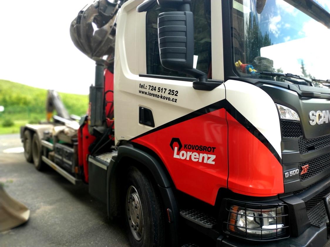 Kovošrot Lorenz - Polep firemního vozu