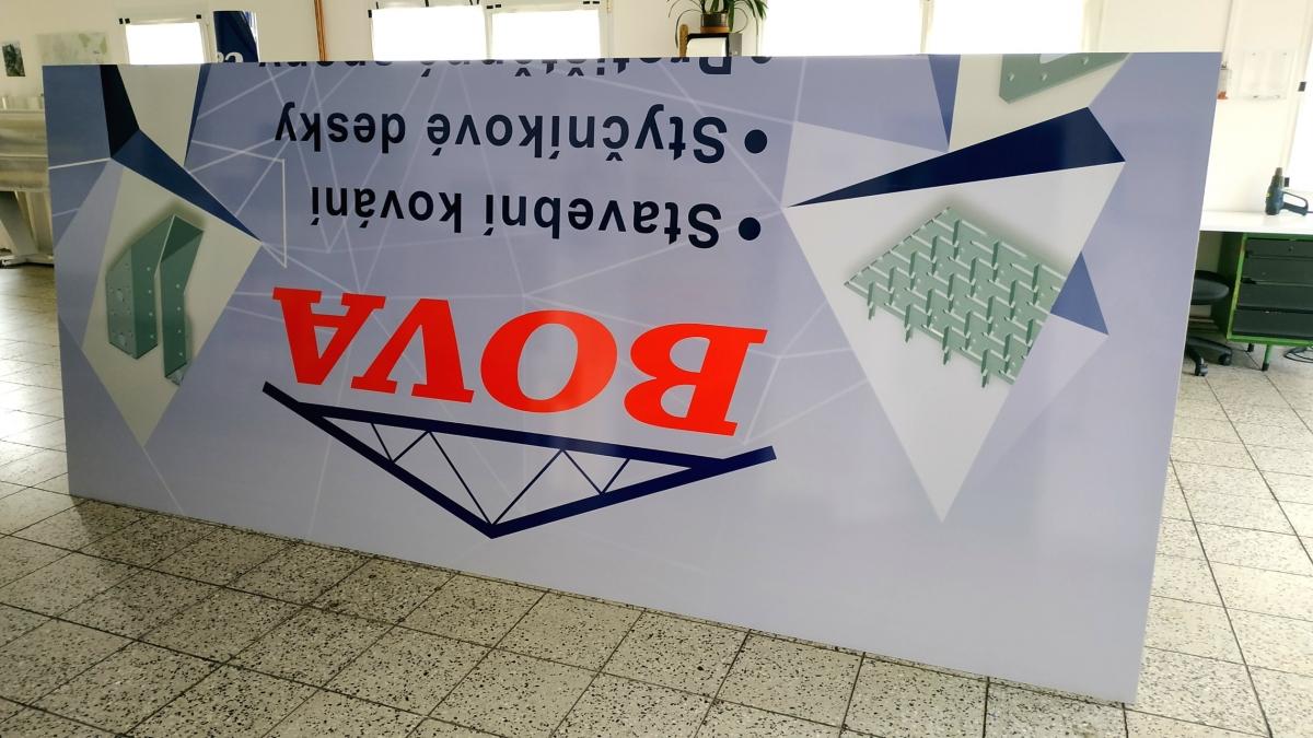 Bova Březnice - Výroba poutače 3,5x2,5m
