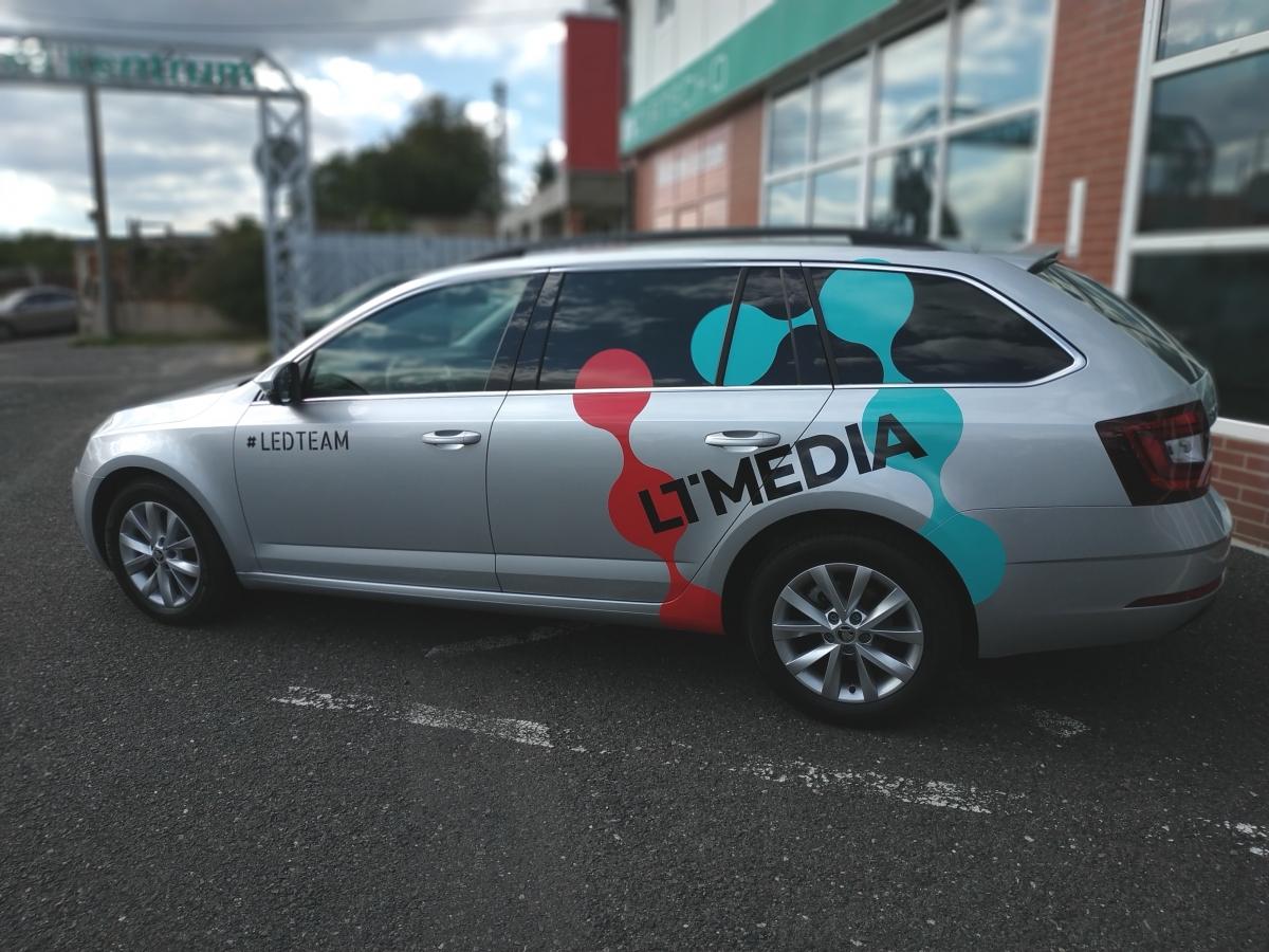 LT Media - Polep firemního vozu
