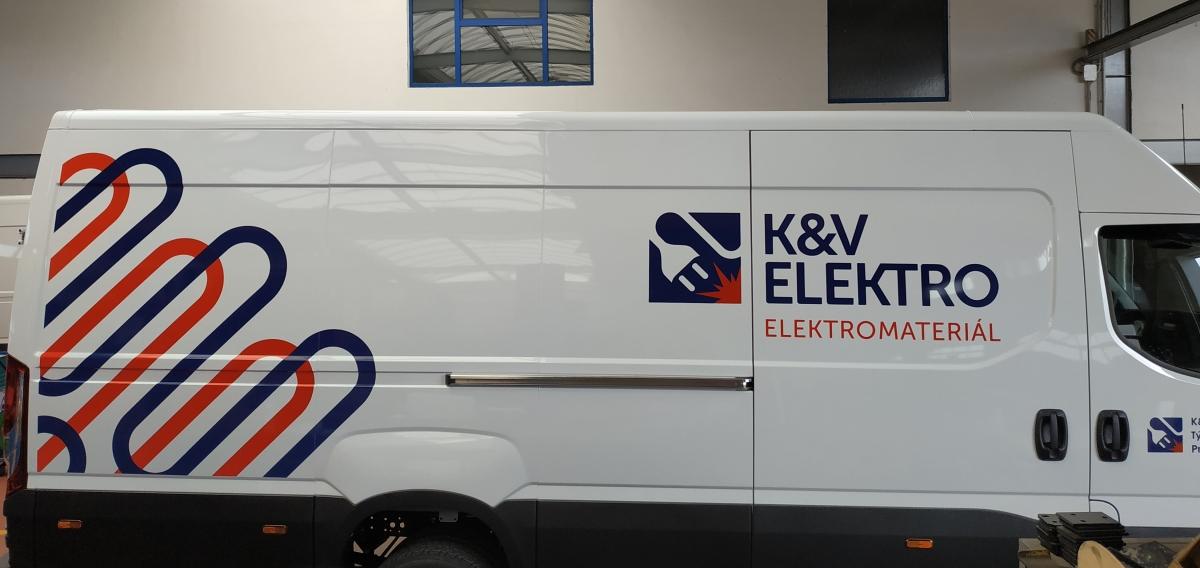 KV Elektro - Polep firemního vozu Iveco
