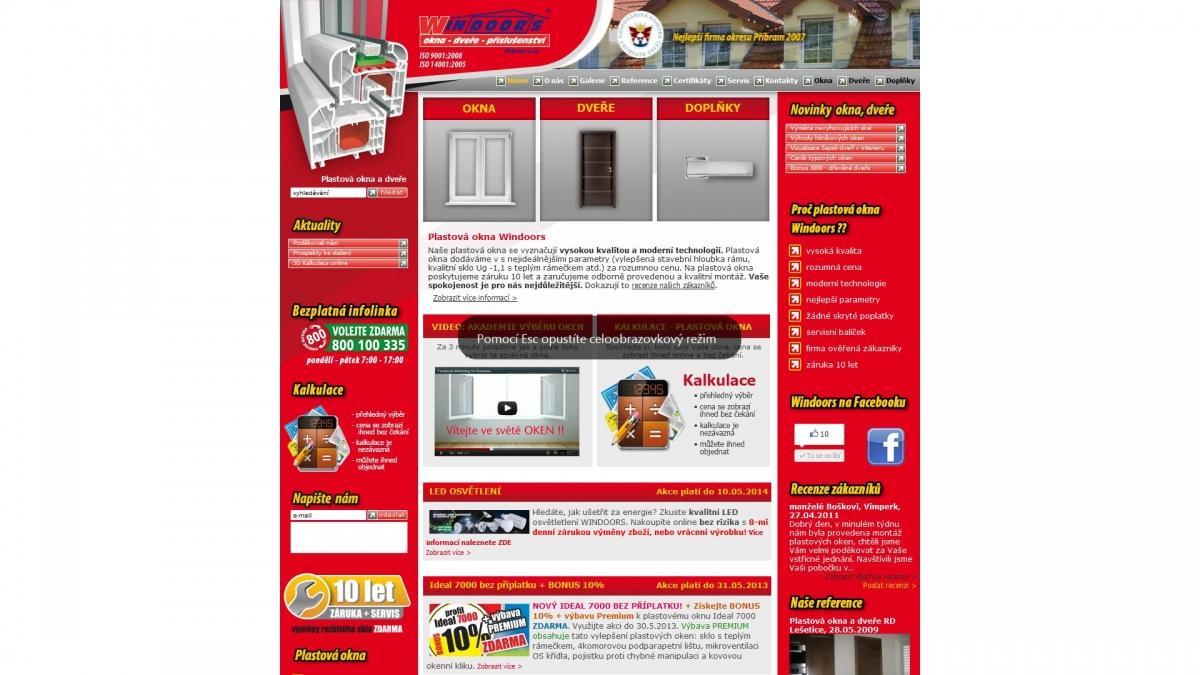 Windoor´s Příbram - Webové stránky