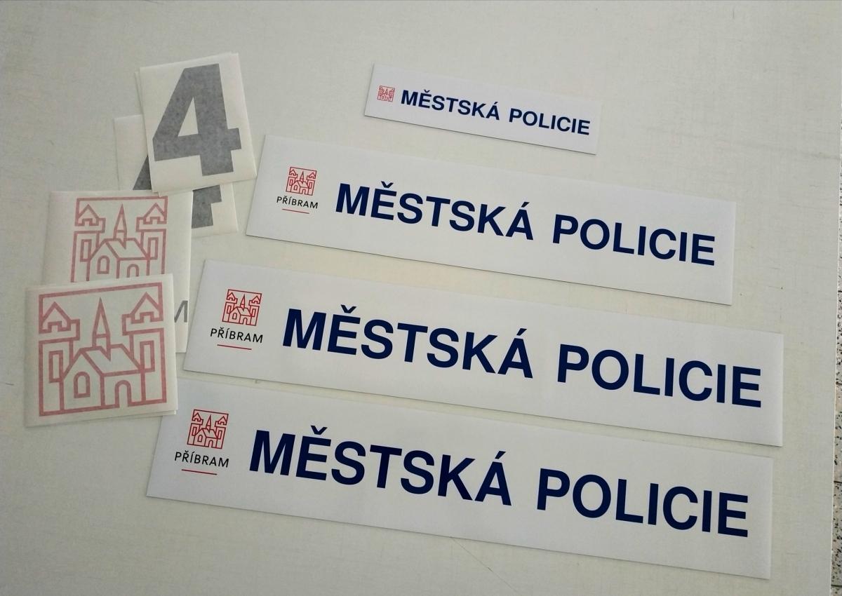 Městská policie - Magnetické cedulky