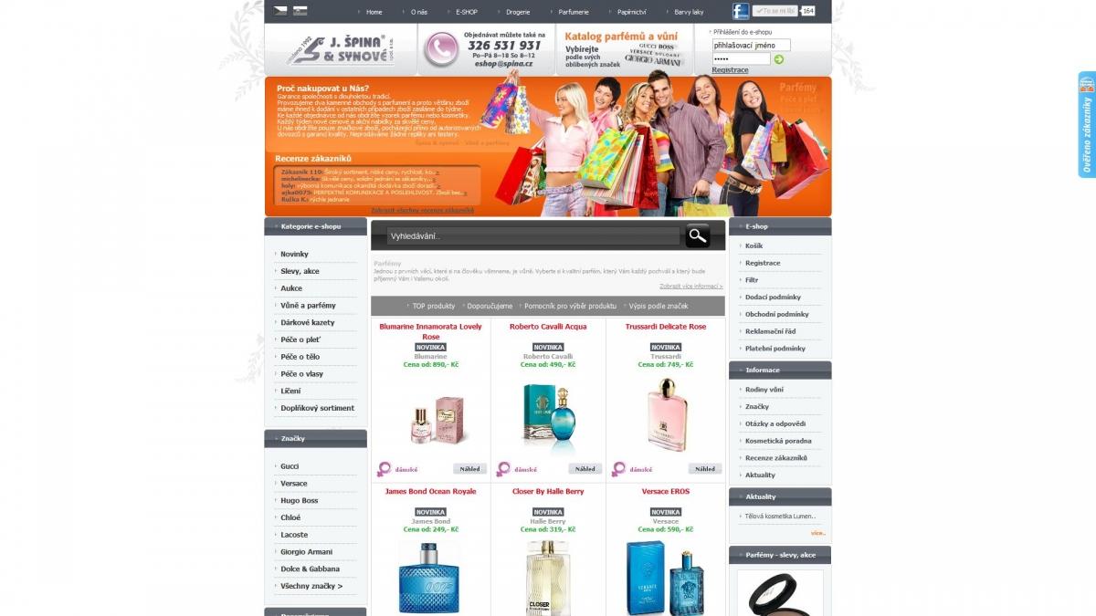 Špína a synové - Webové stránky a e-shop