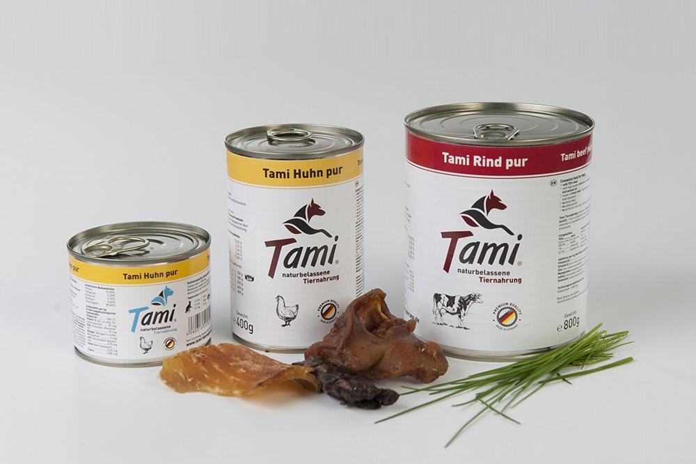 konzervy a barfové krmivo TAMI