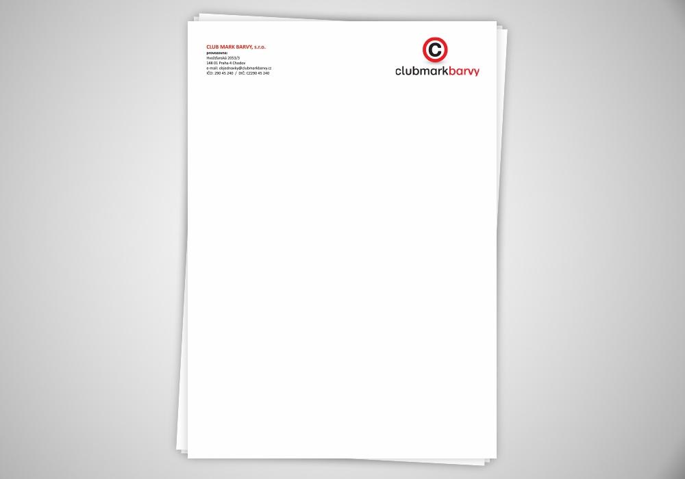 Hlavičkový papír - Clubmark Barvy