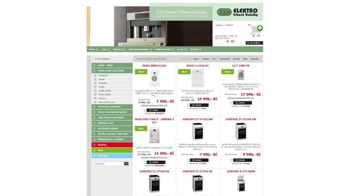 ETD Elektro - E-shop ETD.cz/eshop