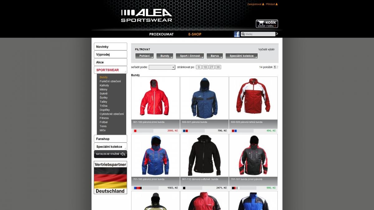 Alea Sportswear - E-shop AleaSportswear.cz