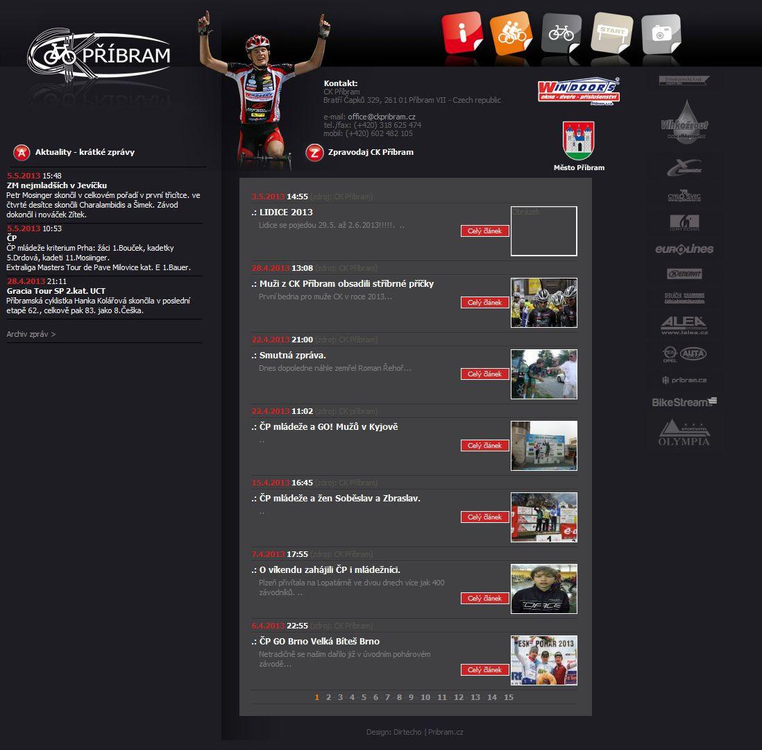 CK Pribram - Webové stránky CK Pribram