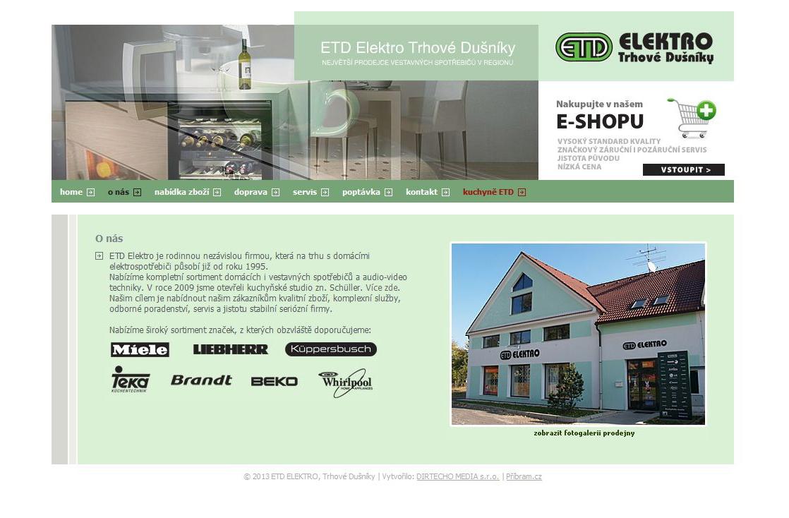 ETD Elektro - Webové stránky ETD Elektro