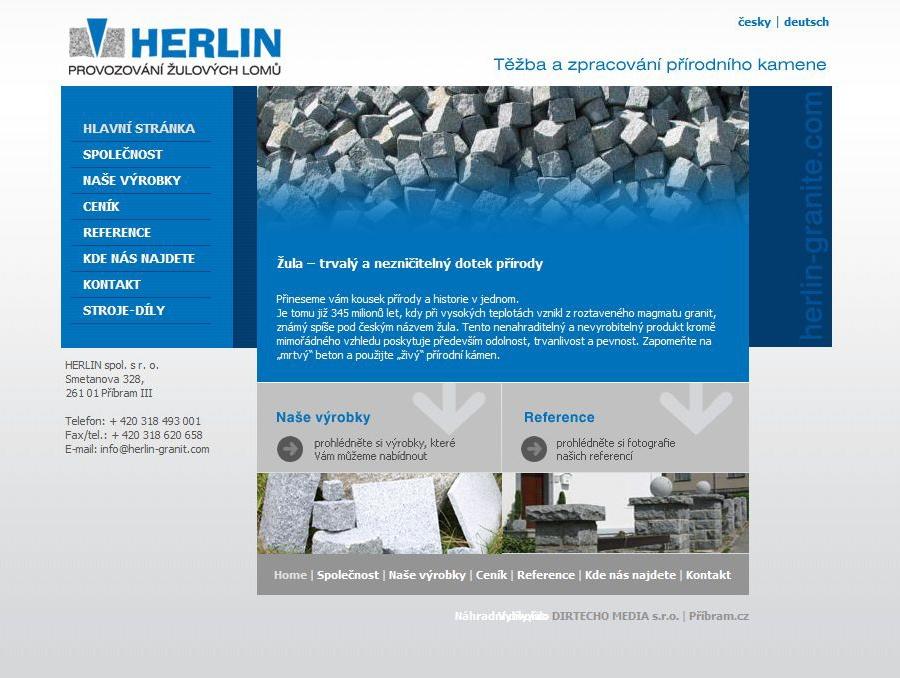Herlin Granit - Webové stránky Herlin Granit