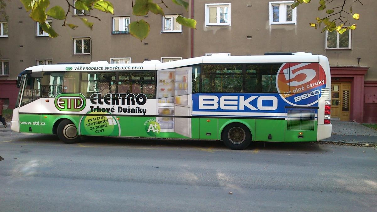 ETD Elektro - Reklama na MHD - ETD (Beko)