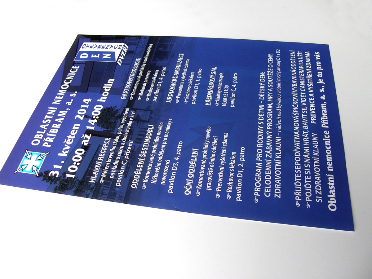 výroba plakátu pro Nemocnici Příbram