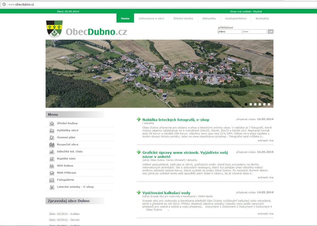 SLIDER na www.obecdubno.cz