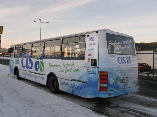 CENTRUM INTEGROVANÝCH SLUŽEB - Pronájem a polep autobusu MHD v Příbrami