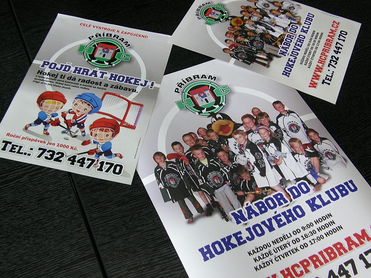 Plakáty + letáčky HC Příbram
